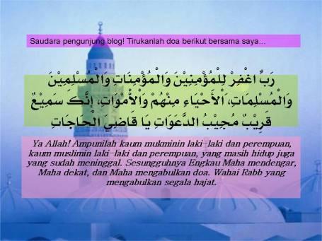 DOA UNTUK KAUM MUSLIMIN